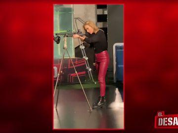 Los entrenamientos de Kira Miró en el Tiro con carabina
