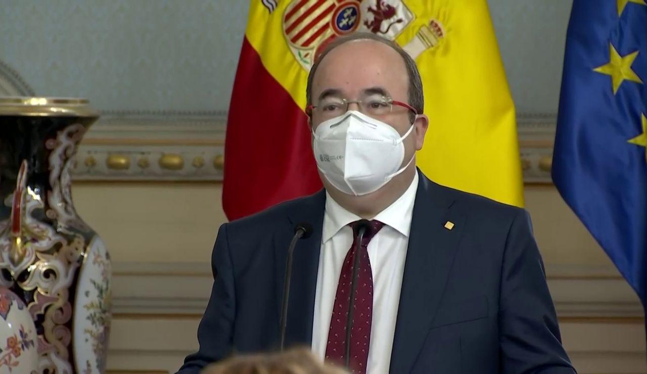"""Miquel Iceta, como nuevo ministro de Política Territorial: """"Agradezco la presencia de mi tía Rosa Mari"""""""