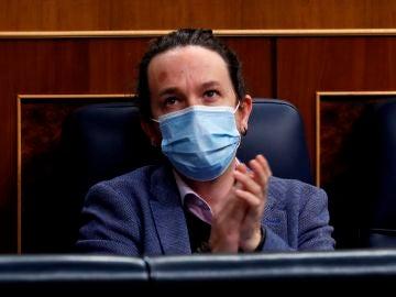 Pablo Iglesias, durante un pleno en el Congreso de los Diputados.