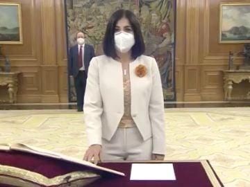 Carolina Darias promete su cargo ante el Rey