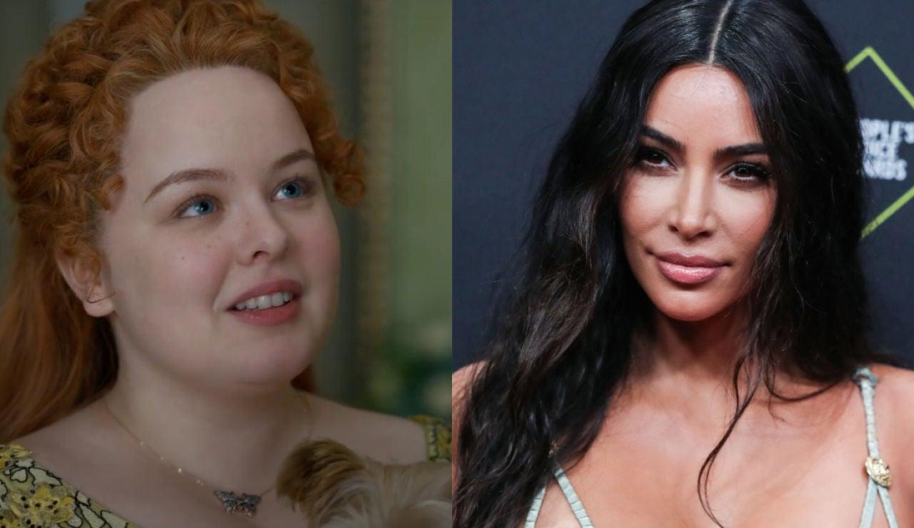 Nicola Coughlan, Penelope Featherington en 'Los Bridgerton' y Kim Kardashian