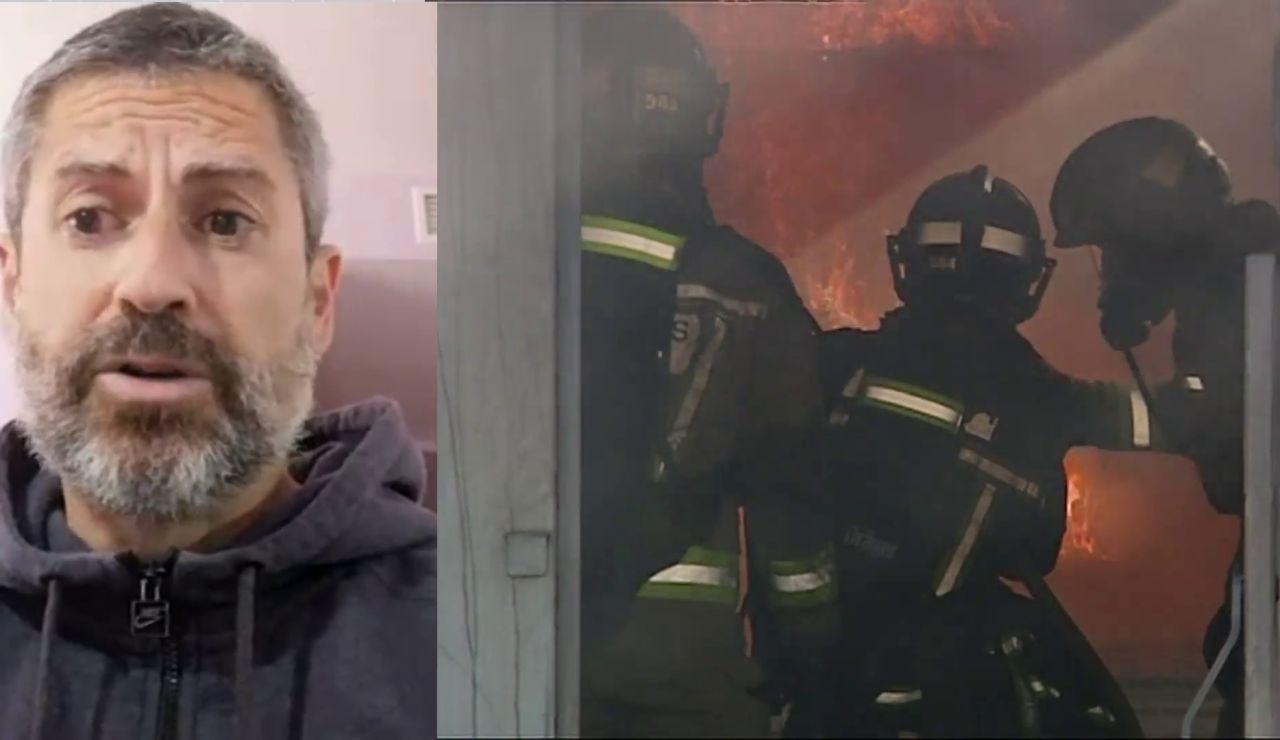 "Un bombero de Murcia sobrevive a una caída de 18 metros desde un sexto piso: ""Tengo varias fracturas"""
