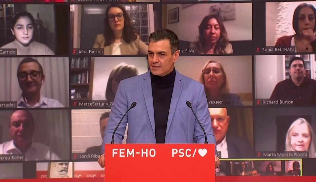 """Pedro Sánchez, sobre las próximas elecciones catalanas, habrá que elegir entre """"división o la unión"""""""