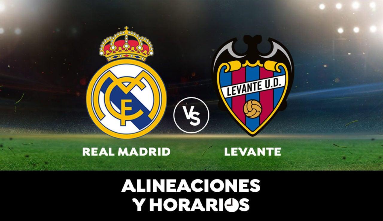 Real Madrid - Levante: Horario, alineaciones y dónde ver el partido de la Liga Santander en directo
