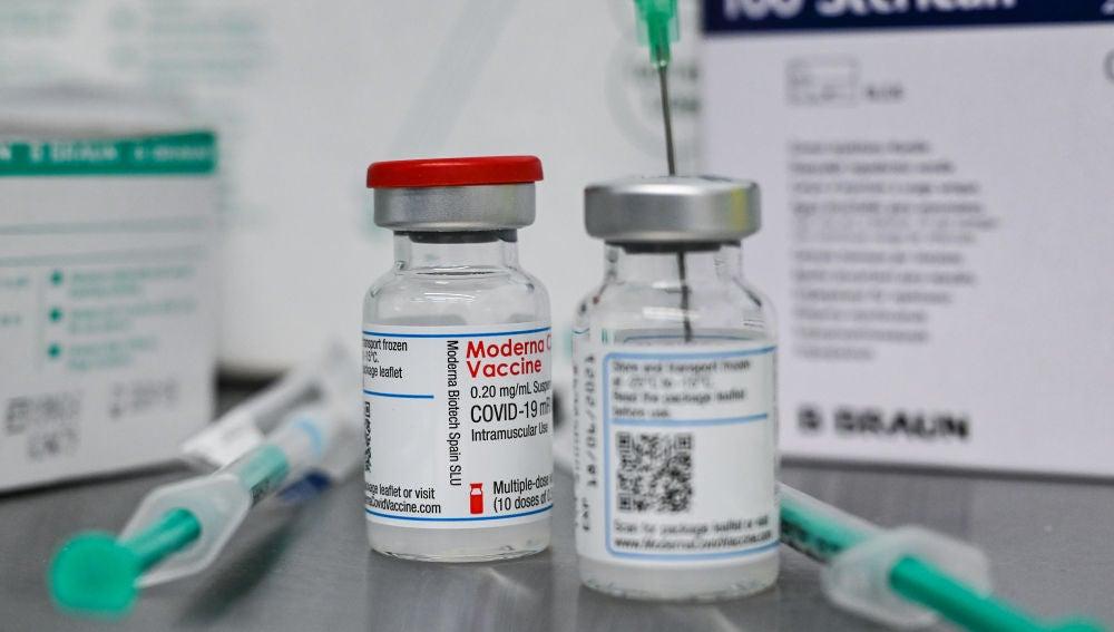 Imagen de las vacunas de Moderna
