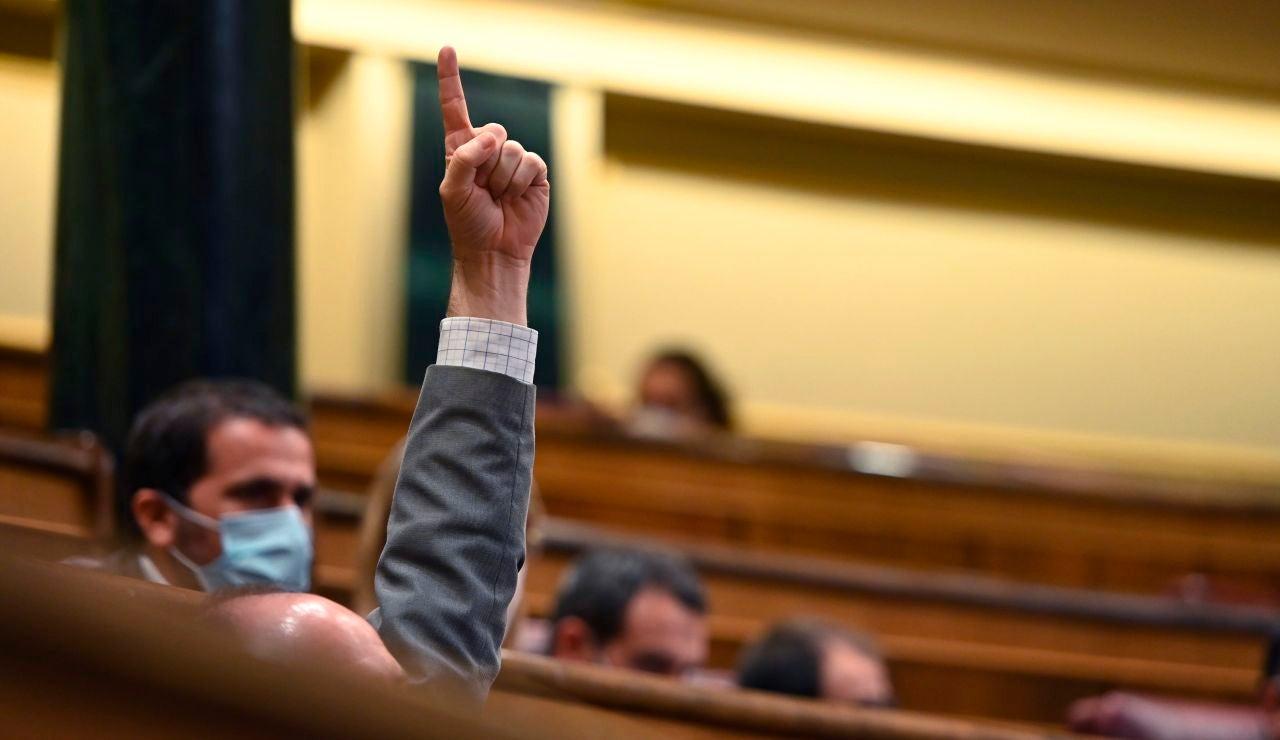 Un momento del pleno extraordinario celebrado este jueves en el Congreso de los Diputados