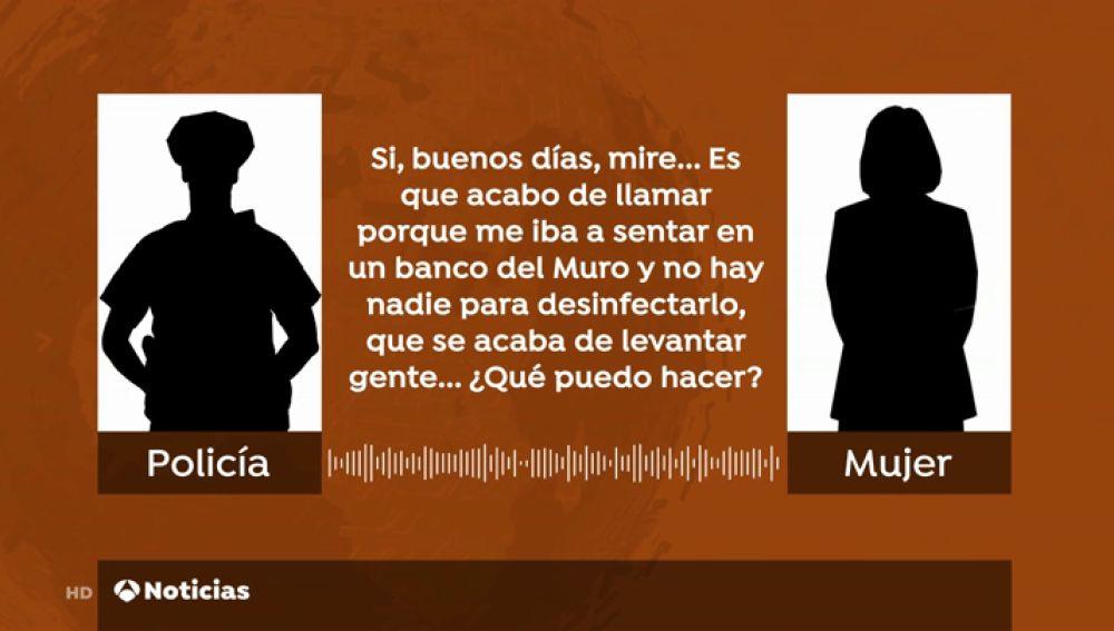 La insólita llamada de una mujer en Gijón para que la policía desinfectara un banco