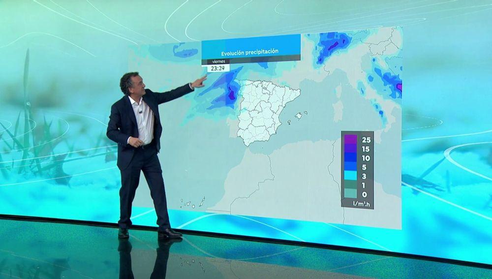 La previsión del tiempo hoy: Justine dejará cielos cubiertos e intensas precipitaciones que entrarán por el noroeste peninsular