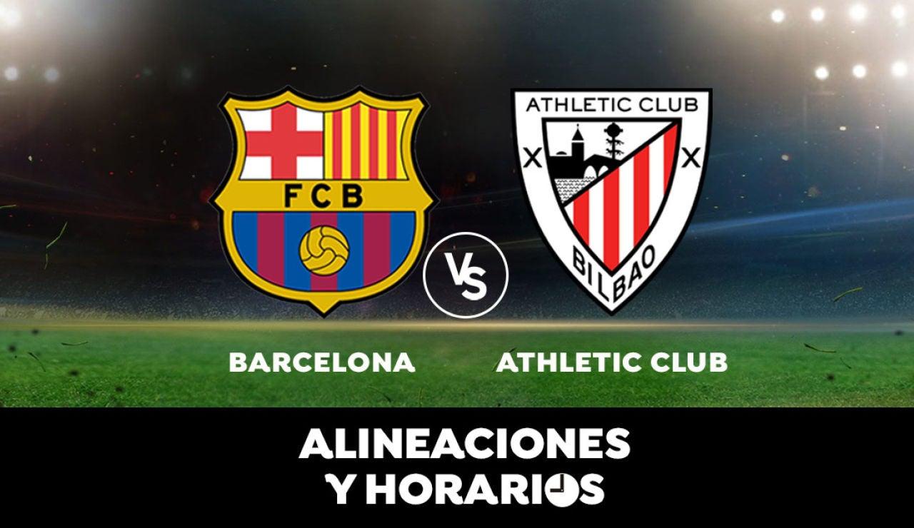 Barcelona - Athletic Club: Horario, alineaciones y dónde ver el partido de Liga Santander