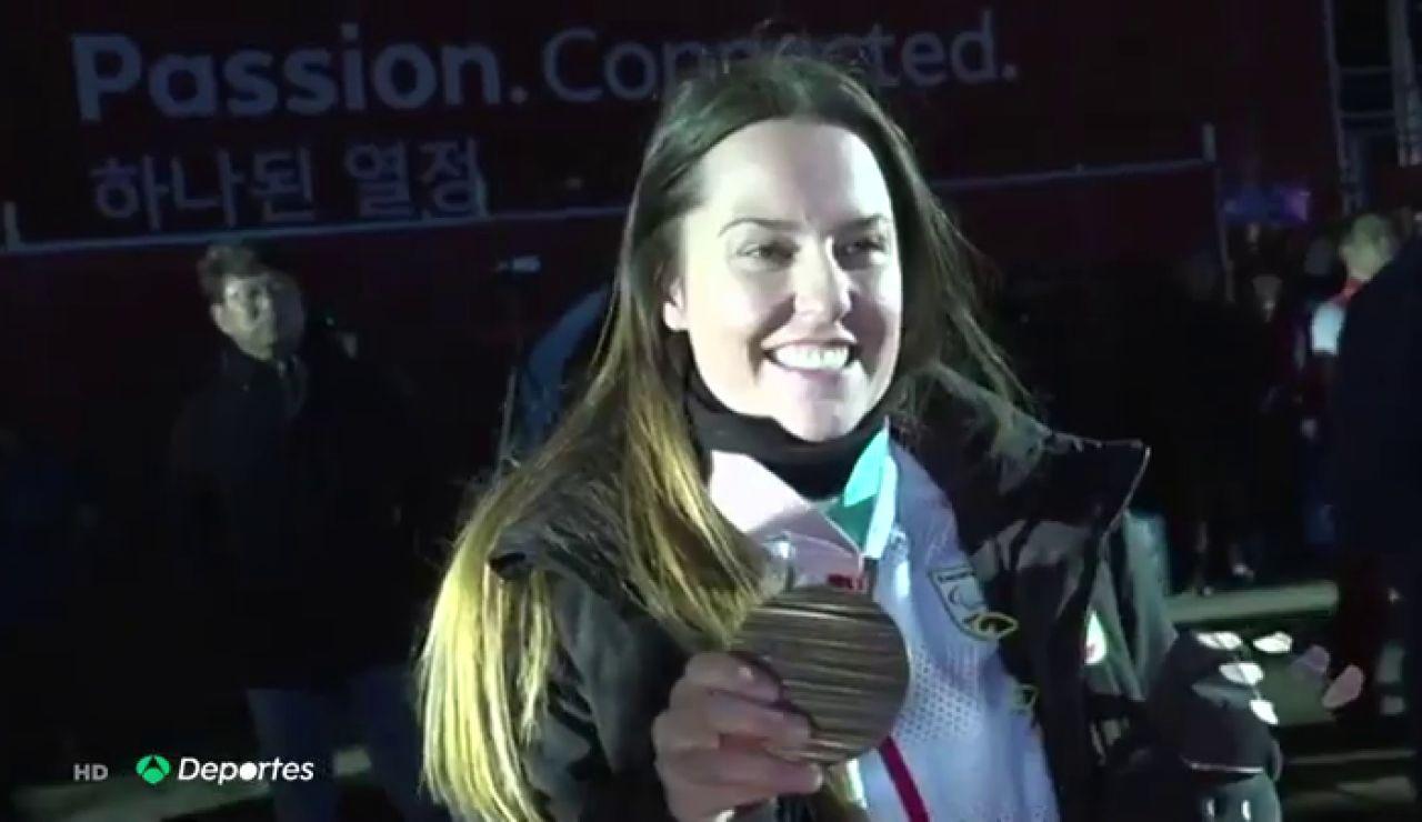Astrid Fina, la primer rider de snowboard en lograr una medalla en unos JJOO tras tener que amputarse un pie