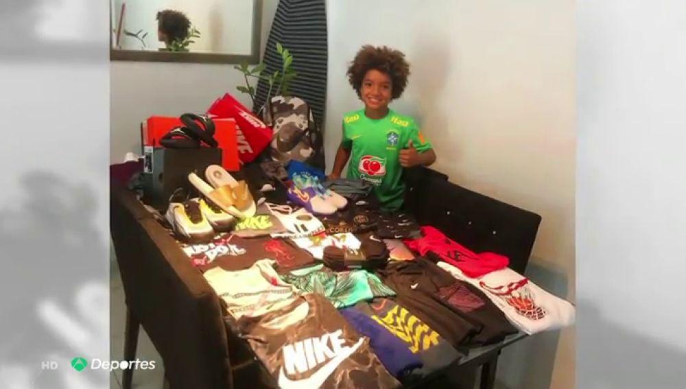Kauan Basile, el futbolista prodigio de 8 años que ha firmado un contrato con Nike