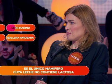 Marta Nieto no esconde la rabia con su primer error en 'Pasapalabra'