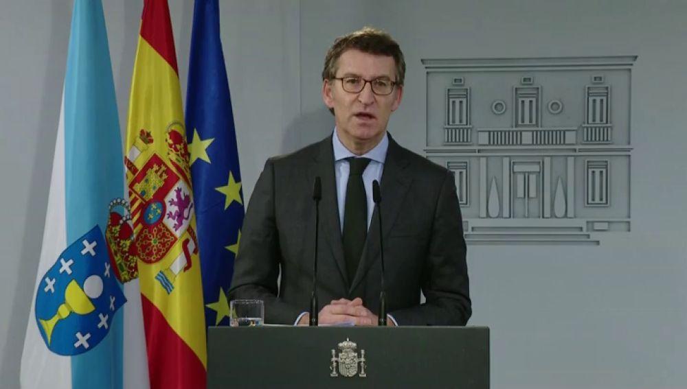 """Alberto Nuñez Feijóo, tras la reunión con Pedro Sánchez: """"Necesitamos una ley de pandemias"""""""