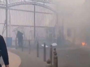 Los ultras del Marsella agreden y roban a Álvaro González y prenden fuego a la ciudad deportiva del club