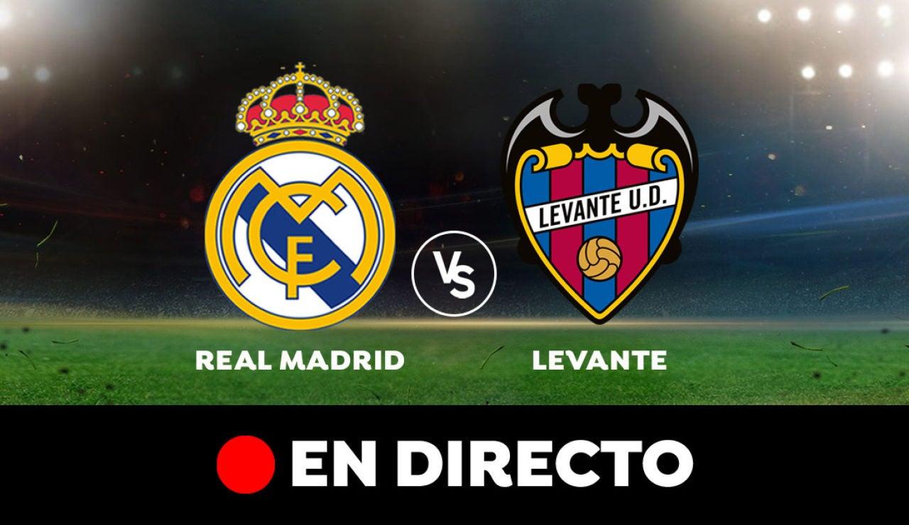Real Madrid - Levante: Partido de hoy de Liga Santander, en directo