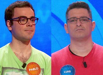 Pablo Díaz y Luis de Lama en 'Pasapalabra'