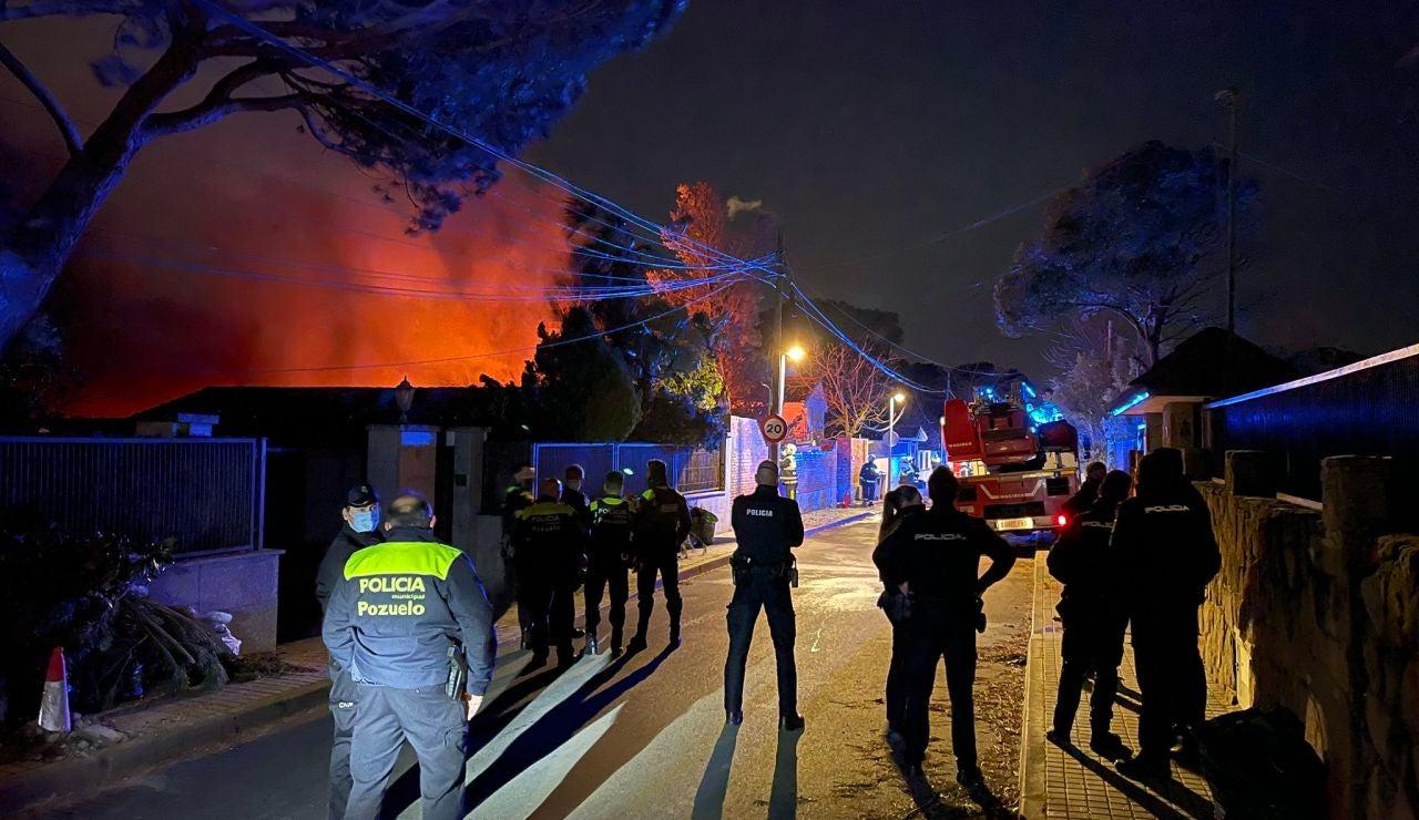 Madrid: Incendio en Pozuelo de Alarcón