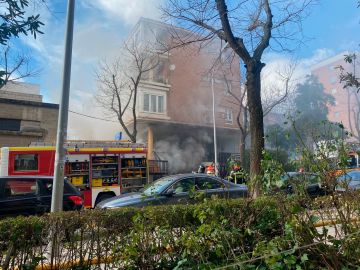 Incendio en bazar chino de Madrid