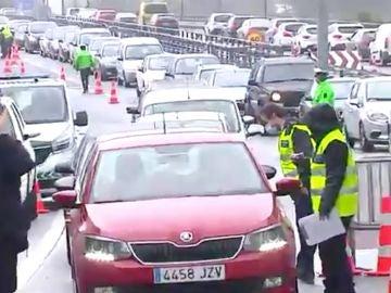 Retenciones en la frontera con Portugal