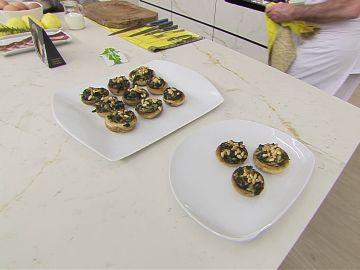 Champiñones rellenos de espinacas y piñones: receta fácil y rápida de Karlos Arguiñano
