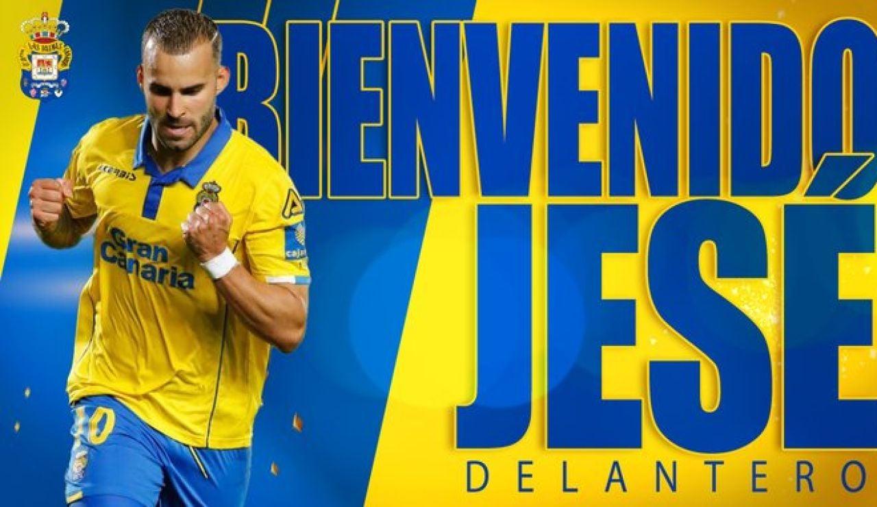 La UD Las Palmas anuncia el fichaje de Jesé Rodríguez en el cierre del mercado de fichajes de invierno