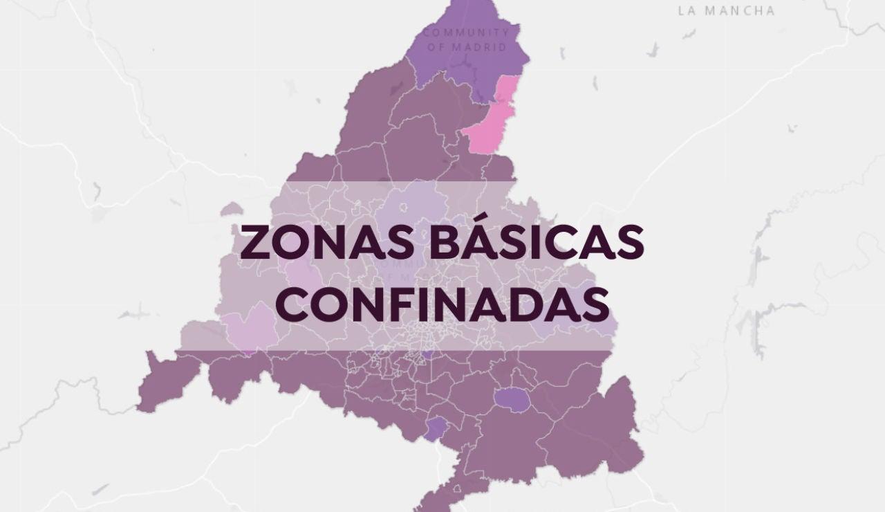 Restricciones Madrid: Mapa de las zonas básicas de salud confinadas en Madrid y todas las restricciones hoy