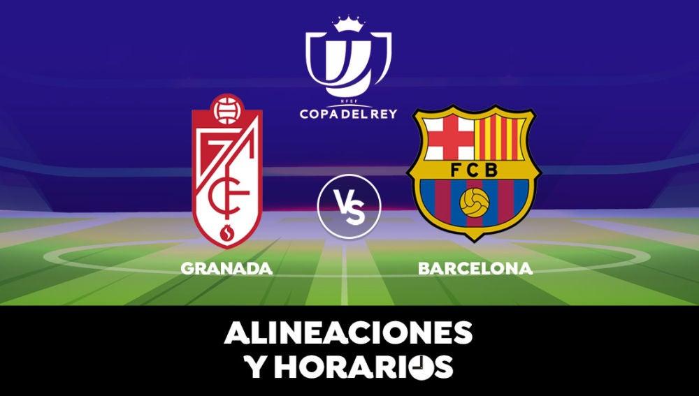 Granada - Barcelona: Horario, alineaciones y dónde ver los dieciseisavos de Copa del Rey