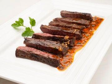 La sabrosa receta de Entrécula con chimichurri de Karlos Arguiñano