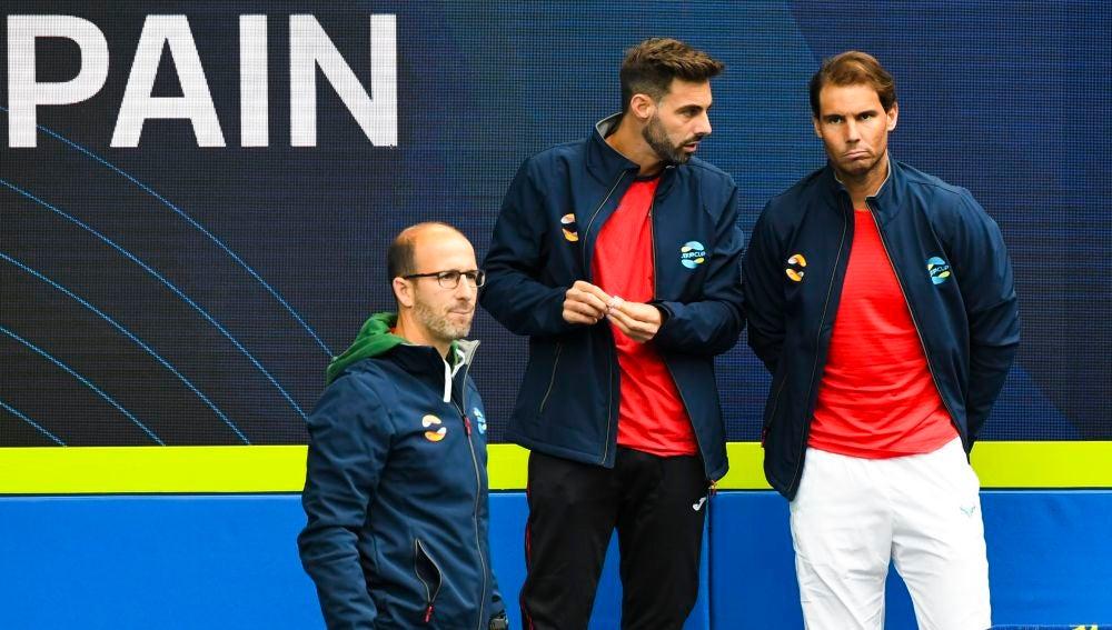 Rafa Nadal, en la ATP Cup en Australia