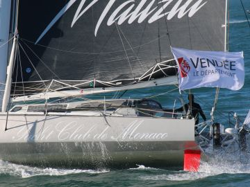 El velero 'Seaexplorer-Yacht club de Monaco', del alemán Boris Herrmann