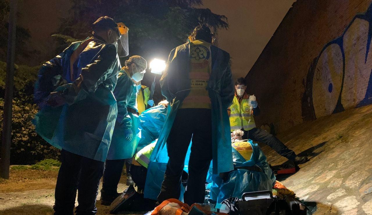 Imagen del suceso ocurrido en Carabanchel, Madrid