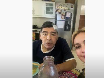 Se filtra un vídeo de Maradona pocos días antes de su muerte