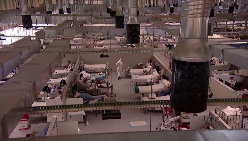 El hospital Isabel Zendal suma 140 camas más de UCI en menos de dos mesese