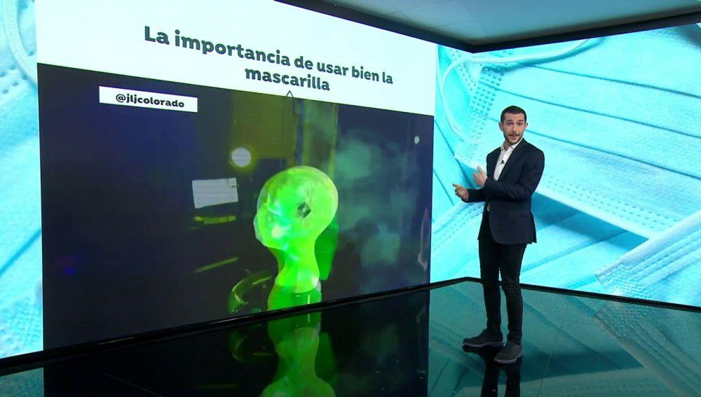 Un vídeo explica la importancia de ajustarse correctamente la mascarilla para evitar el coronavirus