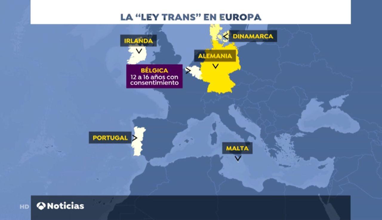 Esta es la 'ley Trans' vigente en distintos países de Europa
