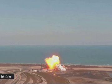Explosión de un prototipo de una nave de Space X