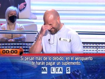 """¡No ha durado ni una! Un concursante de '¡Ahora caigo!' deja alucinado a Arturo Valls: """"¿Qué está pasando?"""""""