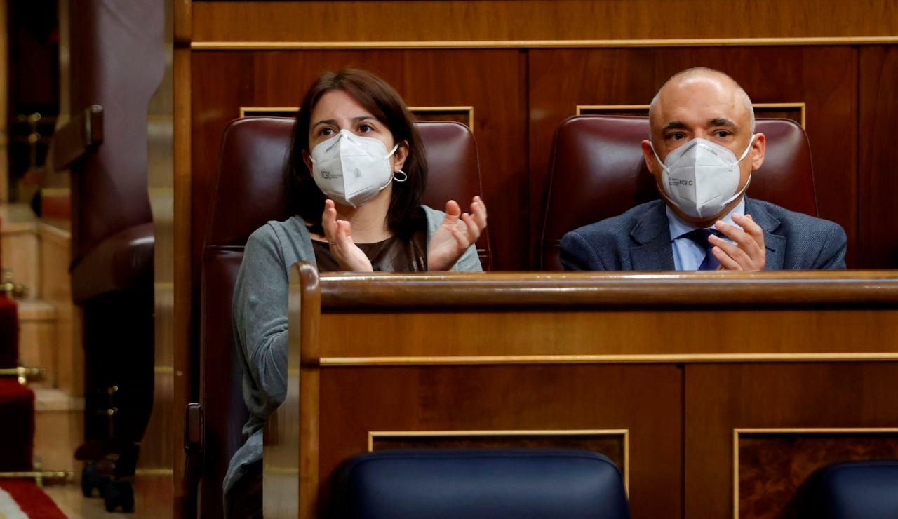 Los diputados socialistas Adriana Lastra y Rafael Simancas