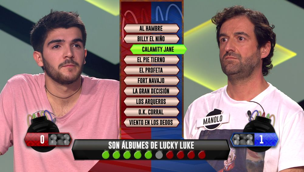 Lucky Luke decide quién gana de la bomba estratégica: ¿Manolo o Tomi?