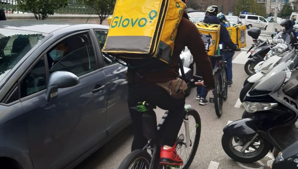 Manifestación de riders