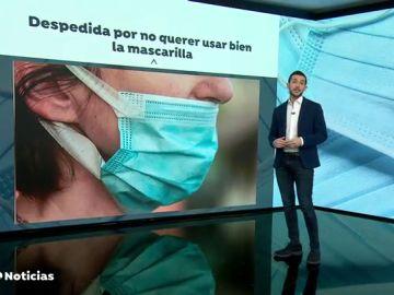 Primer caso de despido procedente en España por no colocarse bien la mascarilla contra el coronavirus
