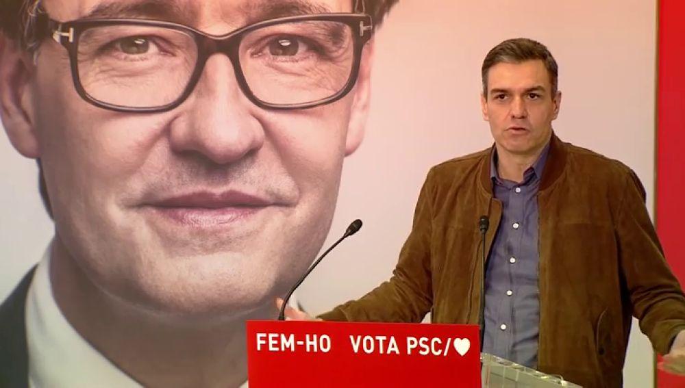 """Pedro Sánchez, convencido del proyecto de Salvador Illa para las eleccciones catalanas: """"Solo tú miras para el futuro"""""""