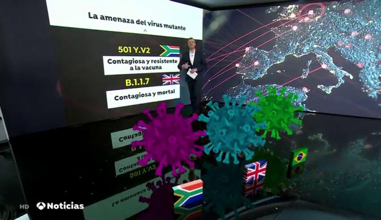 Sudafricana, británica y brasileña las tres variantes que más preocupan en Europa