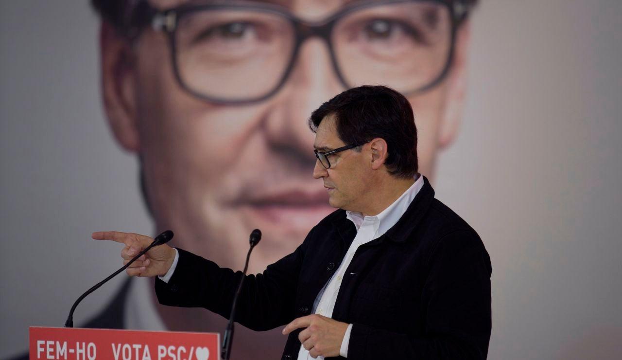 Salvador Illa, candidato del PSC en las elecciones catalanas