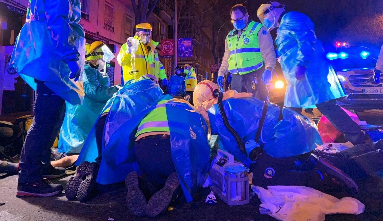 Muere un motorista tras chocar con un camión de la basura en Madrid