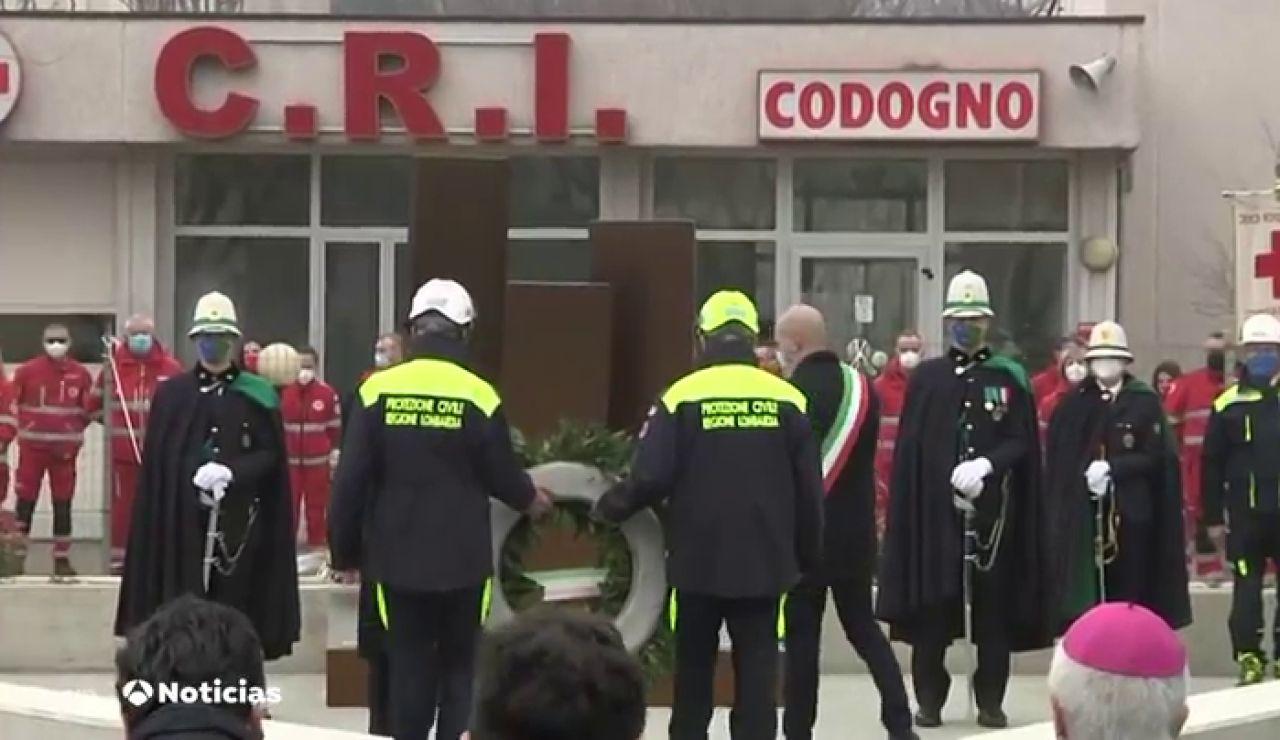 Un año del confinamiento de Codogno, lugar del diagnóstico del primer contagio local de coronavirus en Europa
