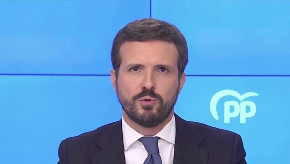 """Pablo Casado pide el cese de los ministros que """"que justifican la 'kale borroka'"""""""