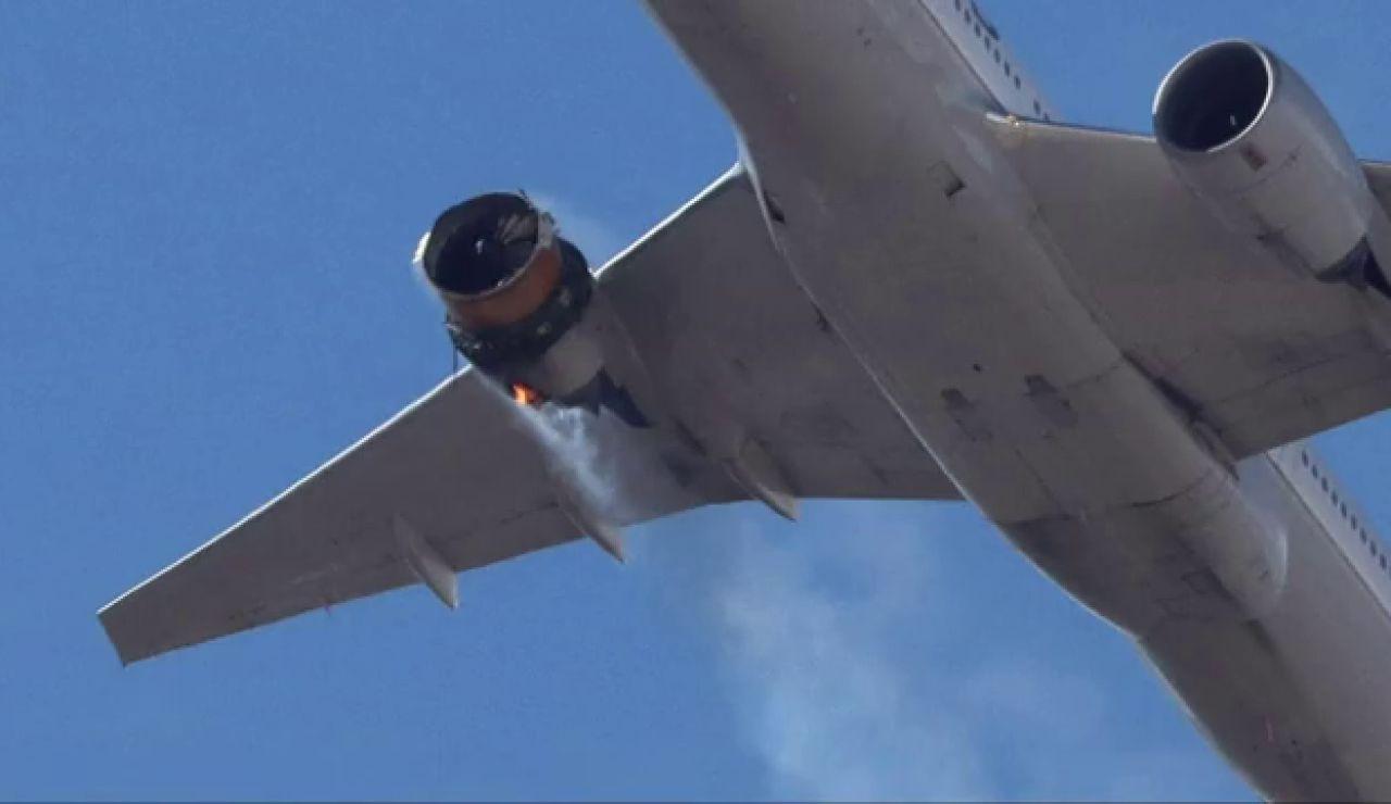 Un avión pierde parte de su motor tras despegar en el Aeropuerto de Denver, Estados Unidos