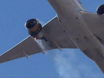 El Boeing que sufrió el incidente en Denver