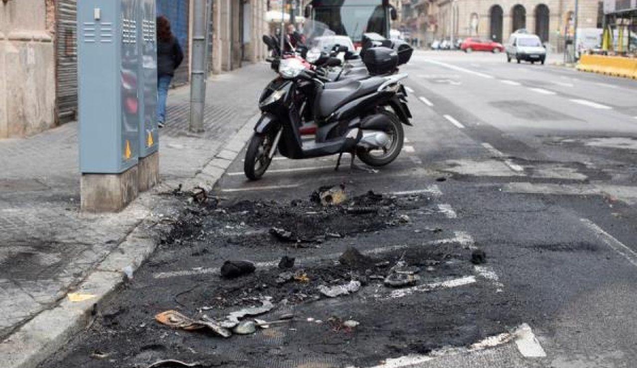 Imagen de los destrozos causados en Cataluña